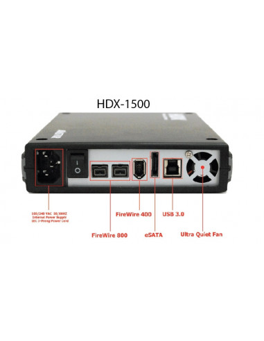 """HDX 1500 cuatro puertos 3.5""""  1 Tb"""