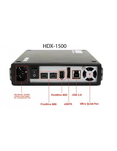 """HDX 1500 cuatro puertos 3.5""""  500 Gb"""